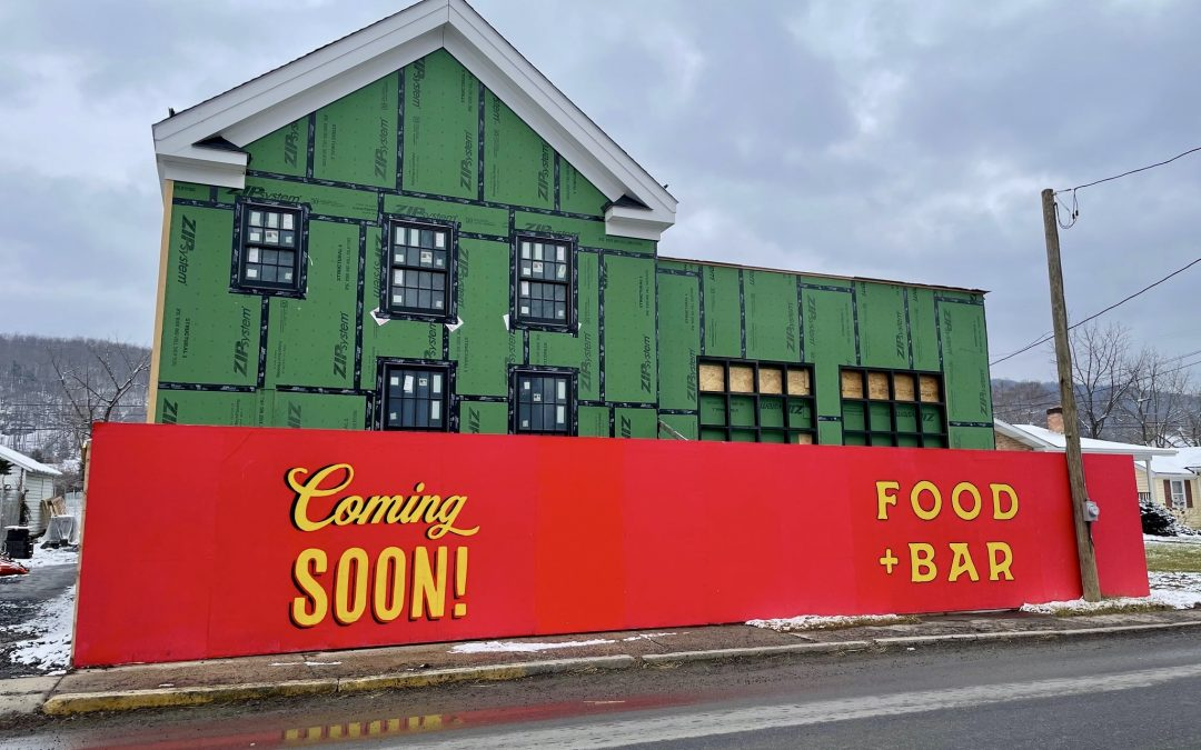 What EXACTLY is that 'Food + Bar Coming Soon' on Main Street?